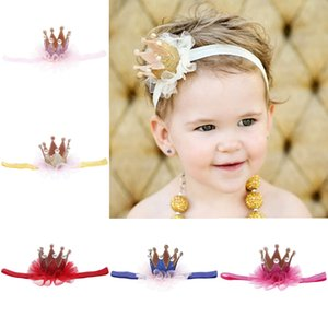 HOT filles maille couronne et enfants headbrand accessoires beaux cheveux babay diadèmes couronne tricot pour le cadeau enfants pour bébé prendre photo