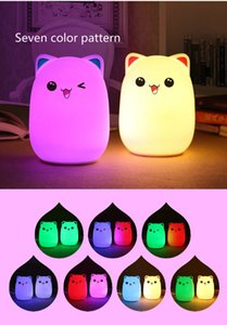 Creative lovely colorful LED bear silicon rubber clap lamp to reduce the pressure of toys