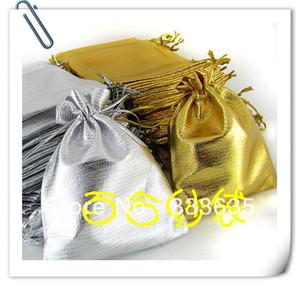 """Gros- 10x15cm 4x6"""" 100pcs Organza Argent Bijoux cadeau Sac mariage poche pour Noël"""