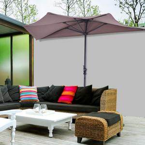9ft половина круглый зонтик патио бистро стены балкон окна двери солнцезащитный козырек загар
