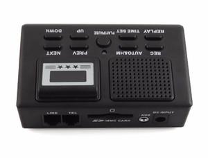 Téléphone Enregistreur vocal Appel téléphonique moniteur avec écran LCD filaire enregistreur de téléphone automatiquement les appels téléphoniques enregistrement Support de carte SD noir