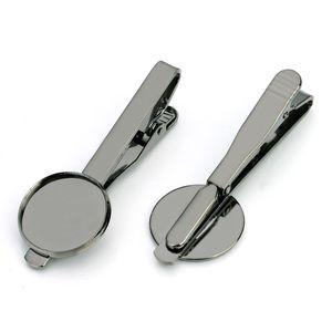 Зажим для галстука латунь ювелирные изделия аксессуары часть пустой шпилька 16 мм рамка набор пистолет черный