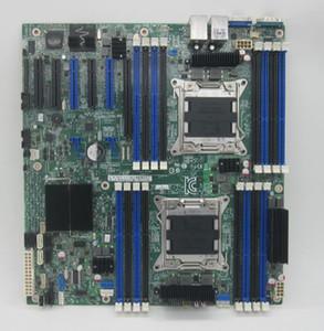 خوادم اللوحة الأم مزدوجة القناة S2600CP2 X79 LGA 2011 دبابيس C602 DBS2600CP2 Mainboard 6x PCIe 3.0 support e5-2600 cpu