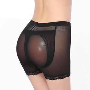 Al por mayor-Silicona acolchada bragas ropa interior sin costura tope almohadillas ropa interior de las mujeres cuerpos mujer sexy butt elevación panty ropa interior de las mujeres