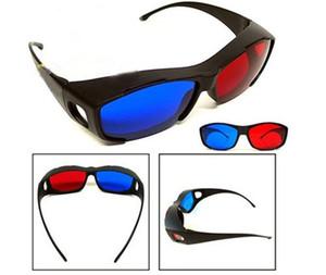 120pcs / lot Rosso blu ciano miopia occhiali 3D generali per il film di vetro 3D Gioco Film DVD dimensionale 3D Spedizione gratuita 0001