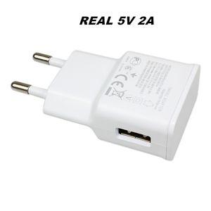 Real completa 5 v 2a alta qualidade usb adaptador de viagem carregador de parede para samsung eu eua plug