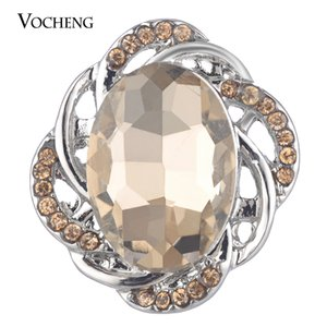 VOCHENG NOOSA Ginger Snap Charms Interchangeable Jewelry Drop Crystal Button 3 Colors 18mm Vn-1771