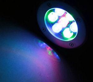6 W Conduziu a Lâmpada de Luz Subterrânea RGB Ao Ar Livre IP67 Enterrado Recessed Luzes de Assoalho Quente / Frio Branco Vermelho Azul Verde LLFA