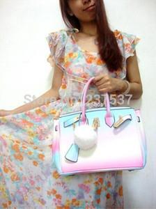 Nouveau Rainbow Color femmes sac Vintage sac à main en cuir de dame avec couleur arc en ciel Fourre-tout Birking Sacs Bonbons Couleur Sac Sacs À Bandoulière Messenger Sac