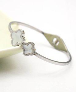 bijoux en ligne de mode en ligne 316L en acier inoxydable argent hawaïenne bracelet manchette Bracelet avec nacre pour les femmes filles