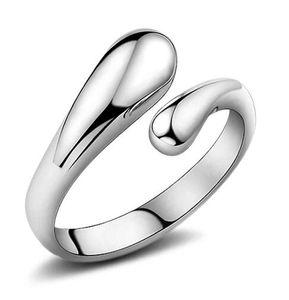 925 Gümüş Kaplama Moda Kadınlar Düğün Hediye Bırak Açık Bayanlar Güzel Sevimli Pretty Halka Charm Takı Noel Hediyesi