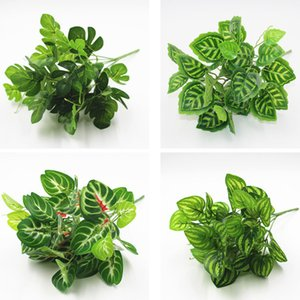 Supply simulation green plants plant wall accessories flower arrangement accessories leaves 7 head off the leaves simulation green radish