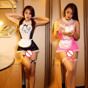 Hot Women French Cosplay Maid Uniform Lingerie Sexy Halloween Costume Set Uniform Dress New Women Cosplay Exotic Apparel Uniform