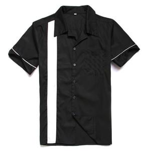 Vintage Atacado-Shirts Reino Unido SpringSummer Cotton curto Mens Sleeve Camisas Casual Classic Black Color Plus Size Loja Online Grátis