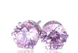 Ohrringe für Frau Edelstein-Kristallbolzen-Ohrringe DHL Schmuck Geschenk Korean Modeschmuck 925 Silber 18K Gold überzog Zircon-Bolzen-Ohrringe