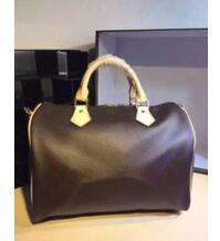 Clássico da qualidade superior lady genuína oxidando Couro speedy 30 35 bolsa com bloqueio mulheres bolsa bolsa tote bolsa 41524