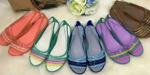 Zapatos de verano para mujer Sandalias de boda Zapatillas de playa Moda Sandalias informales Sandalias planas transparentes Verano Zapatillas nuevas