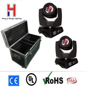(2 teile / los) bohne 200 watt 5r bühne licht moving head strahl spot licht effekt mit flightcase