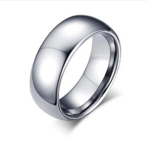 мужская 6 мм вольфрама равнина купол полированный обручальное кольцо Кольцо размер 4-15