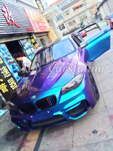 bLUE TO PURPLE Gloss Rainbow drift Chameleon Vinyl Car Wrap Film con bolle d'aria free / release Foglio di copertura 1.52x20m 5X67ft