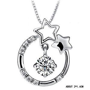 S925 Sterling Silber Halskette Anhänger Korean Fantasy Star Herzen haben Ihren Anhänger Wunsch Sterne Herz Kristall Anhänger ohne Kette