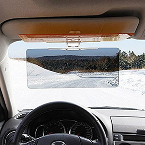 ZOOKOTO Car Sun Visor Extender HD UV Anti-UV Anti-Glare Auto Visiera parasole Flip Down Shield Day / Night Vision