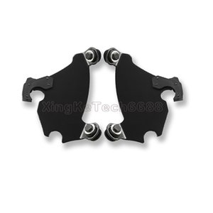 Black Memphis Shade Gauntlet Fairing Trigger Lock Mount Kit for Harley 86-16
