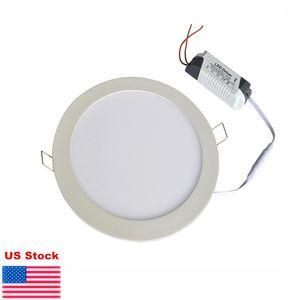 Ultra sottile giù le luci 9W 12W 15W 18W 21W dimmerabile LED da incasso luce di pannello del soffitto da incasso Lampade di illuminazione interna calda naturale bianco freddo