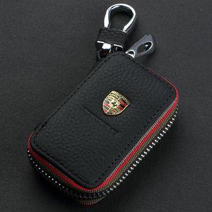 Mazda VW TOYOTA BMW AUDI Citroen Hyundai Buick Benz Honda Lexus Chevrolet İçin Toptan Gerçek Deri Anahtarlık Araba Anahtarı Çanta Kılıf tutucular