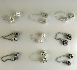Diy Jewelry Findings Silver Plated Charm Safety 체인 믹스 스타일 루즈 비즈 for 유럽 판도라 Big Hole Charms Bracelets