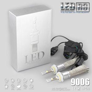 R3 80 W 9600LM Araba H7 LED Far H1 H3 H4 H7 H8 H11 9005 9006 xenon beyaz 6000 K XHP-50 Araba LED Far Ampul