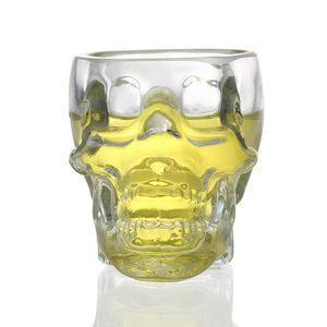 Creative Crystal Skull Head Vodka Whisky 75ml Vaso de Vaso Copa de Halloween Regalo de Navidad Drinking Ware Home Bar Cup Mug