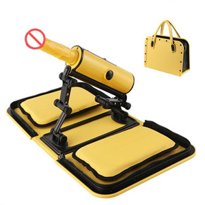 New Portable Handbag Sex Machine Automatic Sexual Intercourse Remote Control Love Machine with Heat Dildo Three Thrusting Speeds Sex Toys