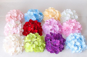 """18 CM / 7.1 """"Yapay Ortanca Dekoratif Ipek Çiçek Başkanı Düğün Duvar ArchDIY Saç Çiçek Ev Dekorasyon aksesuar Için sahne"""