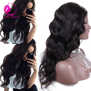 Peruvian Body Wave U parte pelucas de cabello humano medio izquierda derecha U parte pelucas de cabello virgen para mujeres negras color natural 12-26 pulgadas