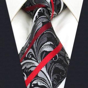 erkek için C26 Çok renkli Çiçek Çizgili Erkek Kravat Kravat İpek Jakar Dokuma Moda klasik süslemek ekstra uzun boy Bağları