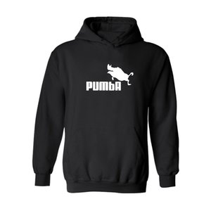 Wholesies-2016 Pumba Black 후드 티 셔츠 후드 티 남성 셔츠 후드 티와 스웨터 셔츠 3xl xxs