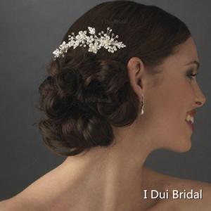 2020 freies Verschiffen-heißen Verkauf-Qualitäts-Hochzeit Kristall Flexible Haarschmuck Blumen Sydney Bridal Comb