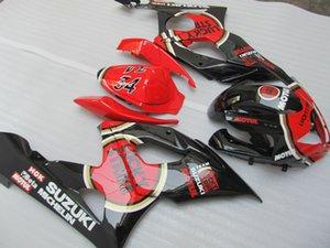 100% injection mold fairings for Suzuki GSXR1000 05 06 red black fairing kit GSXR1000 2005 2006 OT33