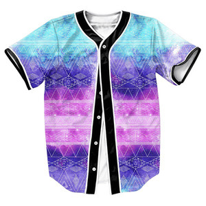 Wholesale- Men's shirts Galactic Tribe Jersey overshirt 3d Streetwear Hip Hop with Single Breasted baseball shirt MEN FASHION