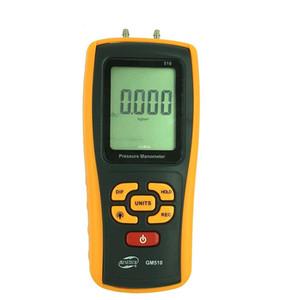 Freeshipping Portable Digital LCD display Pressure manometer 510 Pressure differential manometer pressure gauge