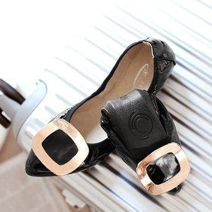 Tallas grandes 34-45 Zapatos de mujer Zapatos de ballet Zapatos plegables portátiles Zapatos planos de bailarina