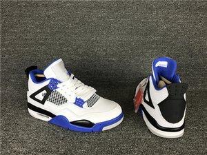 Новый 4 IV Автоспорт синий белый мужчины баскетбол обувь 4S тренеры спортивные кроссовки Оптовая 2018 высокое качество размер 7-12