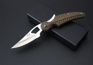 High-end MOKI G10blade katlanır bıçak siyah hediye kutusu, 58HRC sertlik, D2 çelik blade kamp bıçak pokcet bıçak survival bıçak ücretsiz kargo