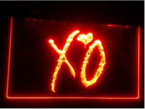 b-263 XO beer bar pub club 3d segni LED Neon Light Sign uomo grotta