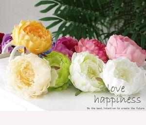 Soie artificielle têtes de fleurs pivoine 4.7inch Grand Rose têtes de fleurs en gros pour la décoration de mariage, guirlande de fleurs, guirlande de fleurs, boule de fleurs