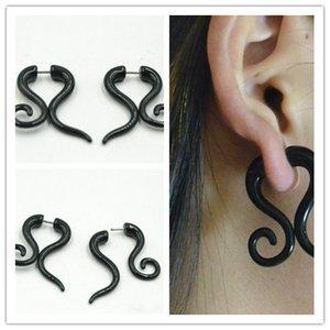 50pcs PUNK EMO Gothic Fake Plugs Cheater Túneles Illussion Ear Plugs Mujeres / Hombres Pendientes Ear Studs Shippment libre