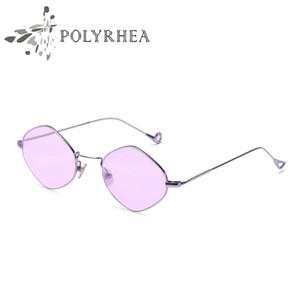 Lunettes de soleil pour dames de la mode ovale Femme lunettes de soleil en alliage Cadre Lunettes ovales pour les femmes Vintage lunettes de soleil en métal avec boîte et étuis
