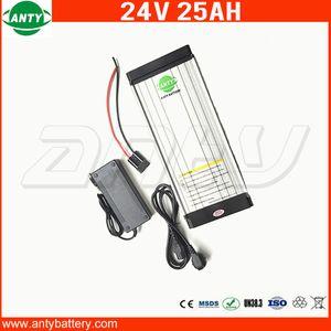 25Ah 500w литиевая батарея 24v Задняя Rack 24v Стиль е велосипед батареи с 2A зарядное устройство 30А BMS аккумуляторная батарея 24v Бесплатная доставка