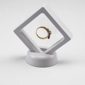 Черный Белый Подвесной Плавающий Дисплей Чехол Ювелирные Изделия Кольцо Монеты Громки Артефакты Стенд Держатель Коробка Бесплатная Доставка ZA3361